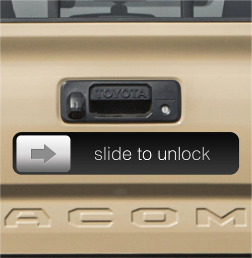 Slide to Unlock Bumper Sticker