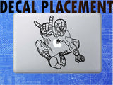 Detailed Spiderman- Marvel Vinyl Decal for Mac