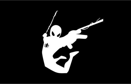 Spiderman Swinging - Marvel Vinyl Decal for Mac