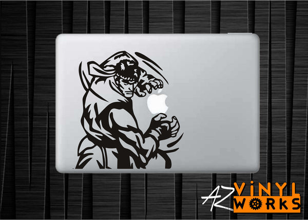 Ryu Street Fighter Hadouken Vinyl Decal for Mac