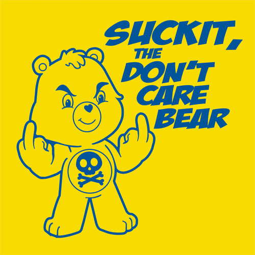 SUCK IT, the Don't Care Bear Vinyl Decal