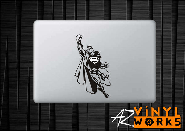 Superman Fly Vinyl Decal for Mac