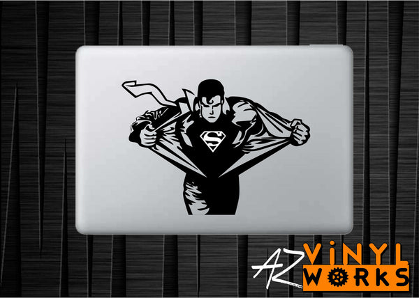 Superman Clothes Change Vinyl Decal for Mac