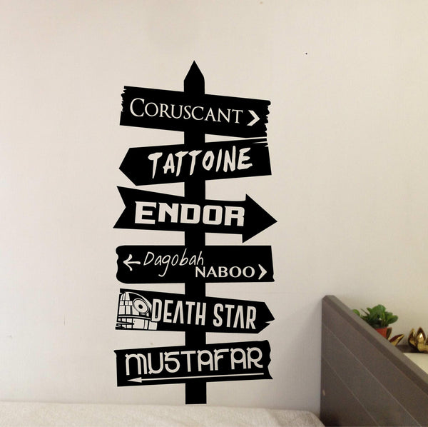 Star Wars Places Directional Decal