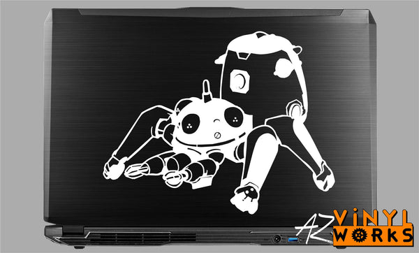 "Tachikoma - Ghost in the Shell Inspired Vinyl Decal with ""Glowing"" Robotic Eye for Macbook Laptops and More!"