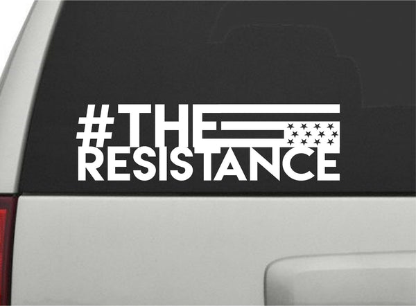 The Resistance - Protest Flag Vinyl Decal