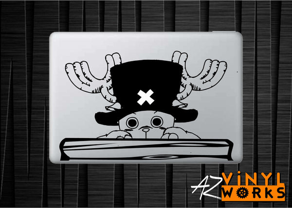 "Tony Chopper - Large-Size One Piece Inspired Vinyl Decal with ""Glowing"" Hat X for Macbook Laptops and More!"