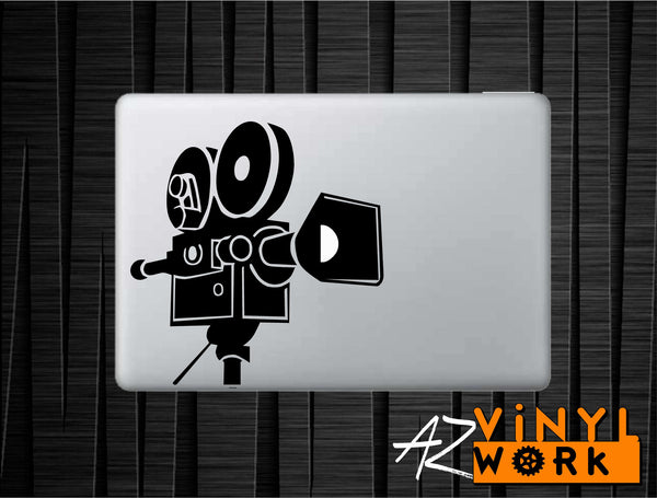 Video Camera Film Lovers Vinyl Decal for Mac