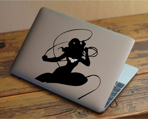 Wonder Woman - DC Inspired Vinyl Decal for Mac