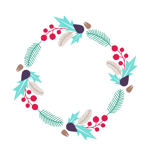 Minimalist Wreath Wall Art Decal
