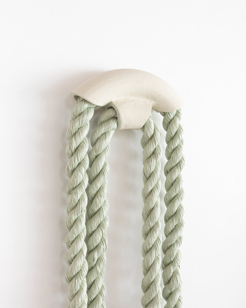 Small Ceramic Arch Loop (Sage)
