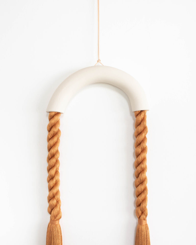 Small Ceramic Hanging Arch (Rust)