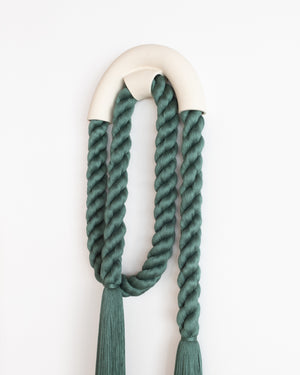 Load image into Gallery viewer, Large Ceramic Arch Loop (Forest Green)
