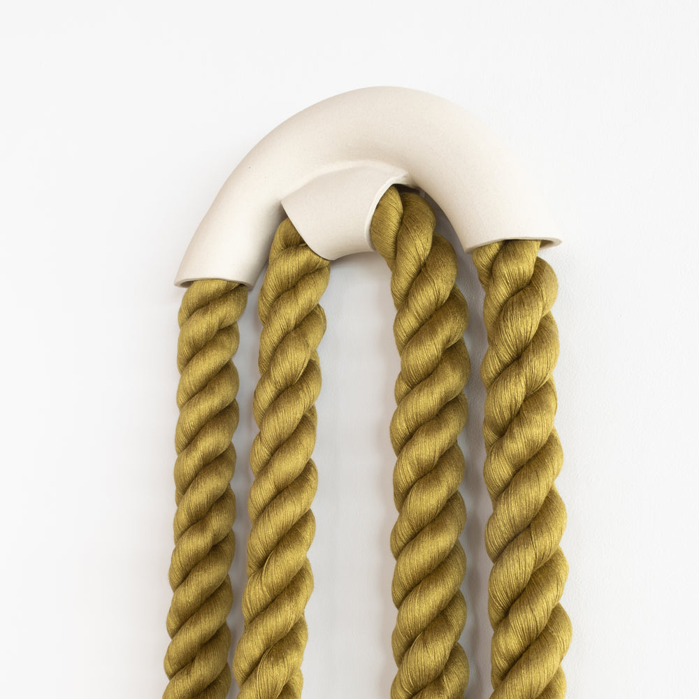 Large Ceramic Arch Loop (Olive)