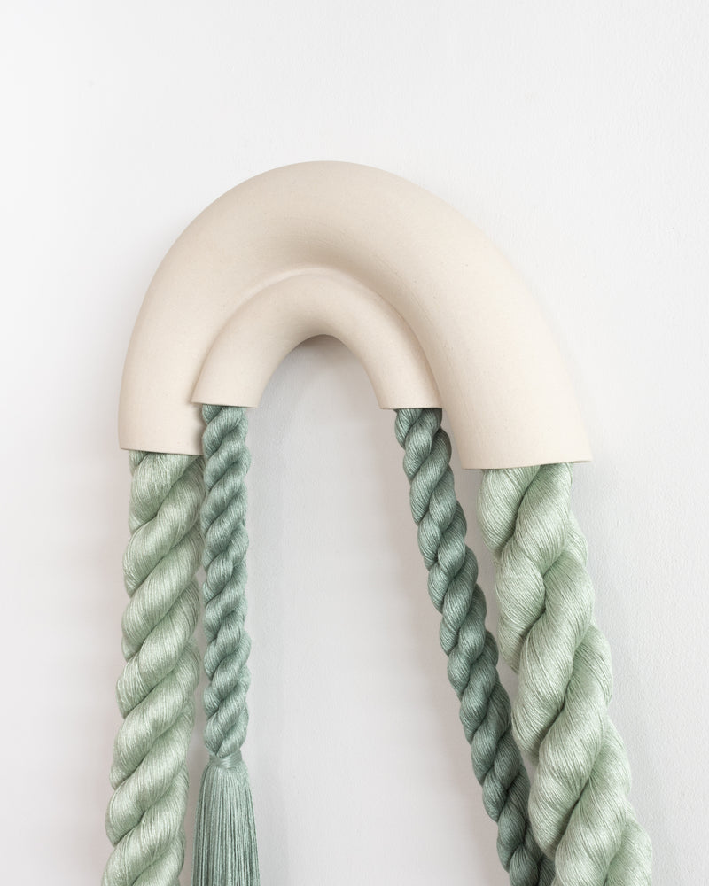 Large Ceramic Linked Arches (Sage)