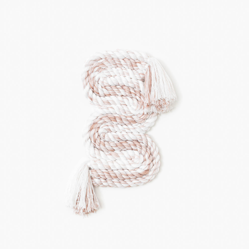 Small Vertical Rope Squiggle (Blush)