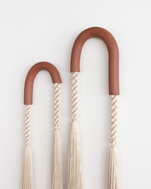 Red Stoneware Asymmetrical Arch Pair (Sand)