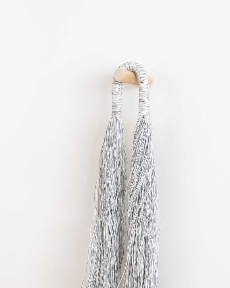 Small Arch Tassel Loop (White/Black)