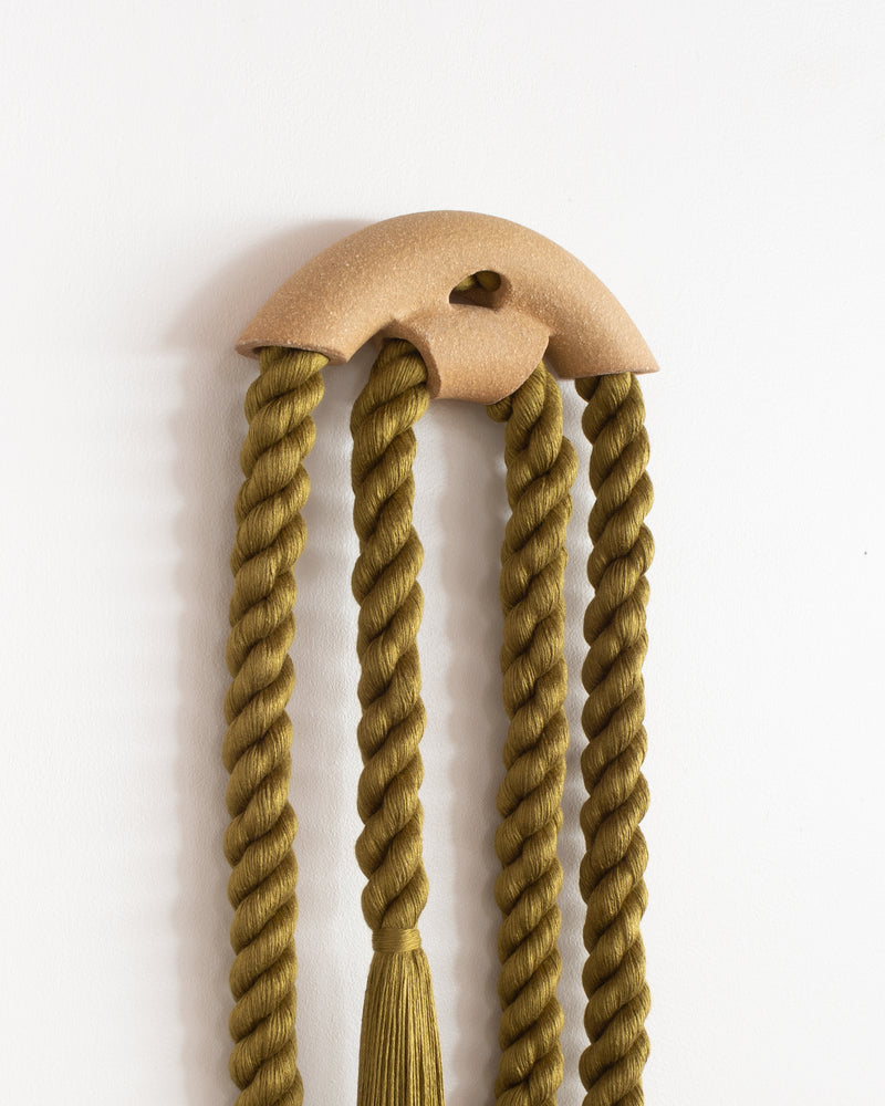 Small Stoneware Peekaboo Arch Loop (Olive)