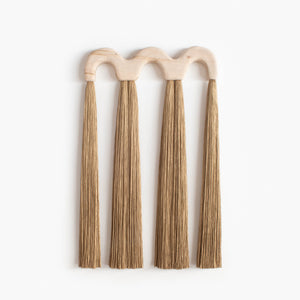 Triple Arch Wood Tassel (Golden Brown)