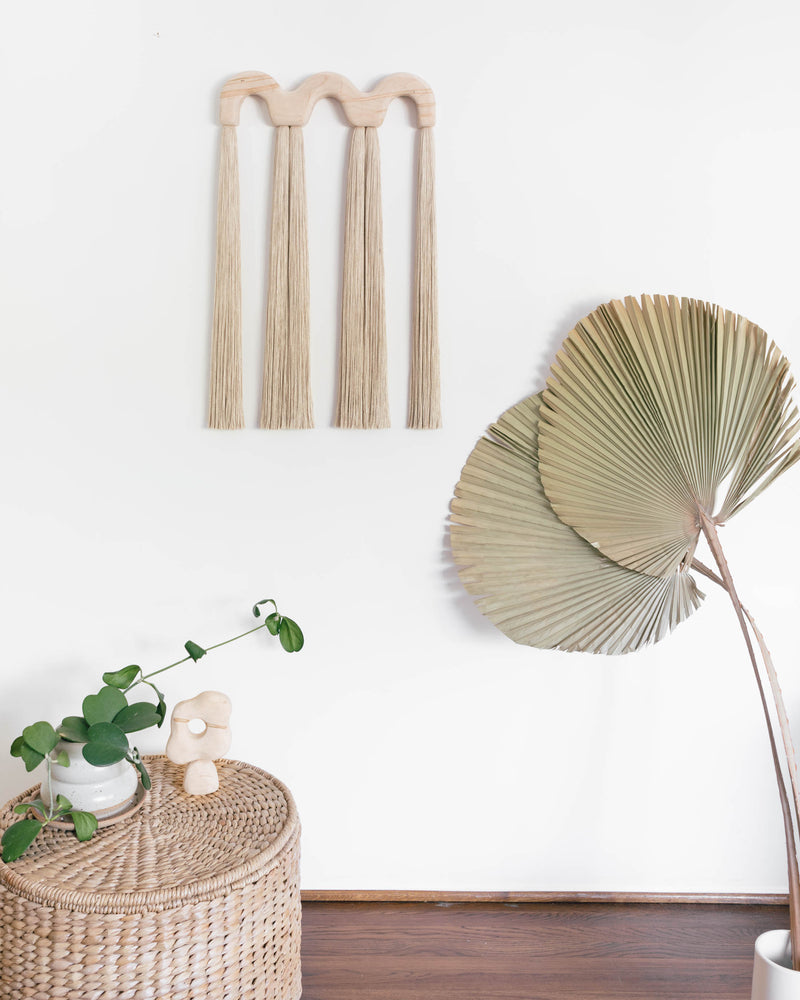 Triple Arch Wood Tassel (Sand)