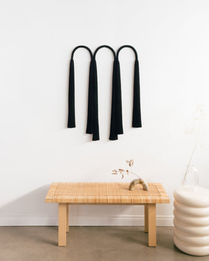 Load image into Gallery viewer, Wide Triple Arch Tassel (Black)