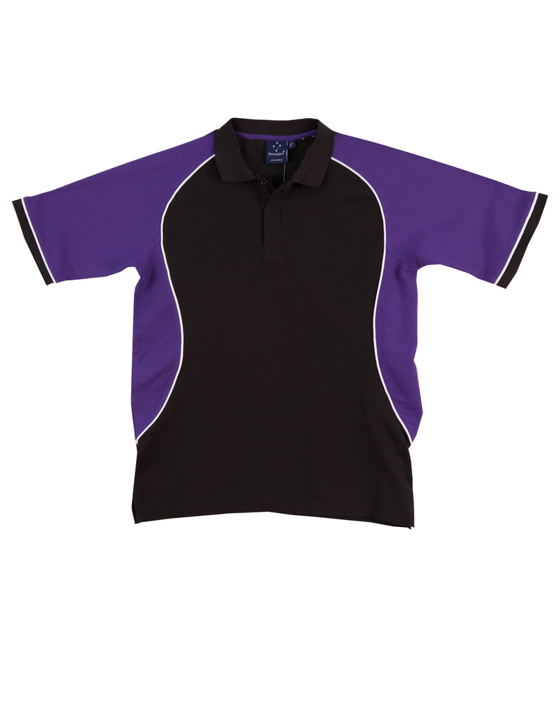 Sale Polo - Black/Purple Trudry Polo Shirt