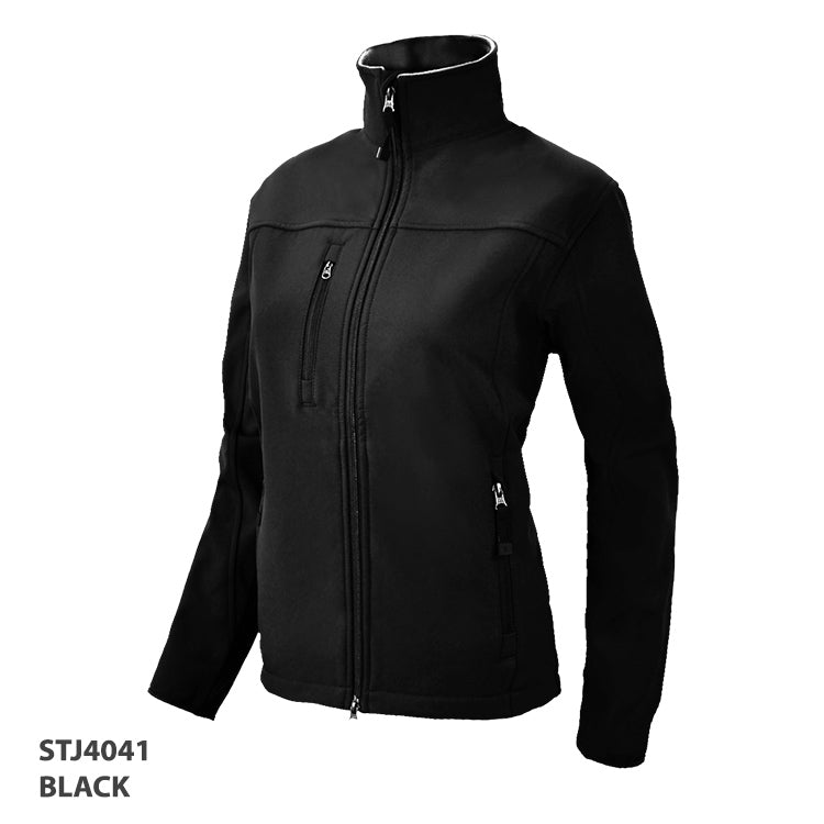 HorseUP Sale - Ladies Black Softshell Jacket -4041
