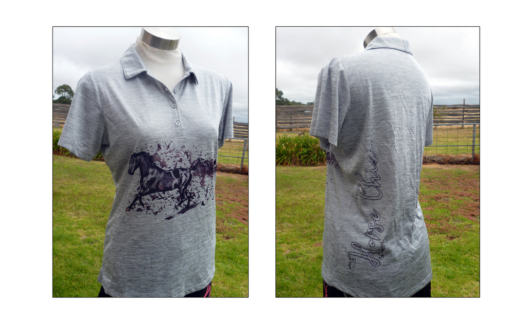 Horseup Silver Horse Chic Polo Shirt