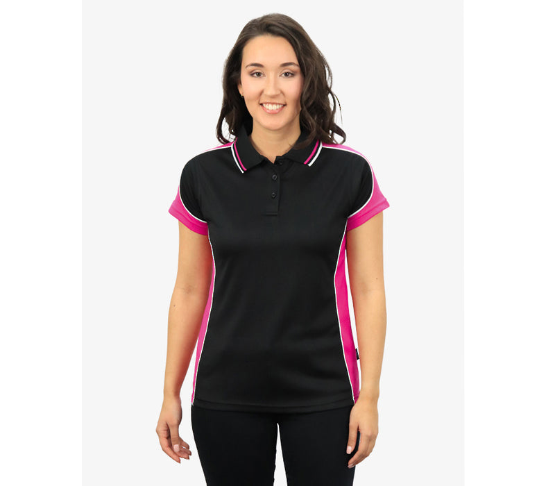 Front Design HorseUP Black/Pink polo - you choose design