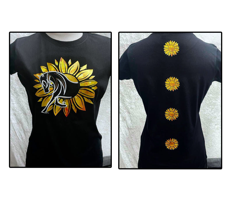 HorseUP Sunflower Horse Tshirt including Kids