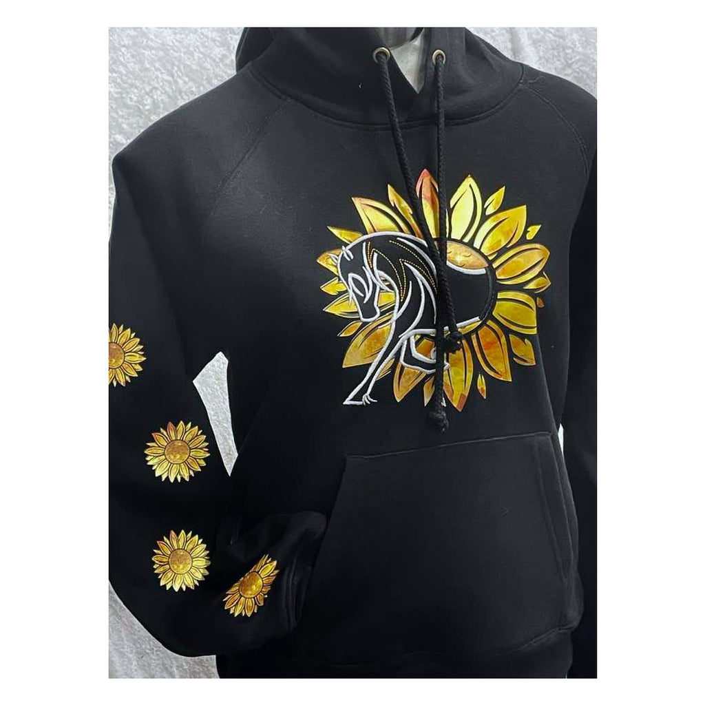 HorseUP Sunflower Horse Hoodie Unisex and Kids