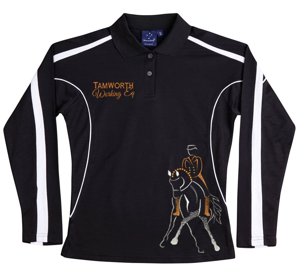 Tamworth Working Eq long sleeve Polo shirt