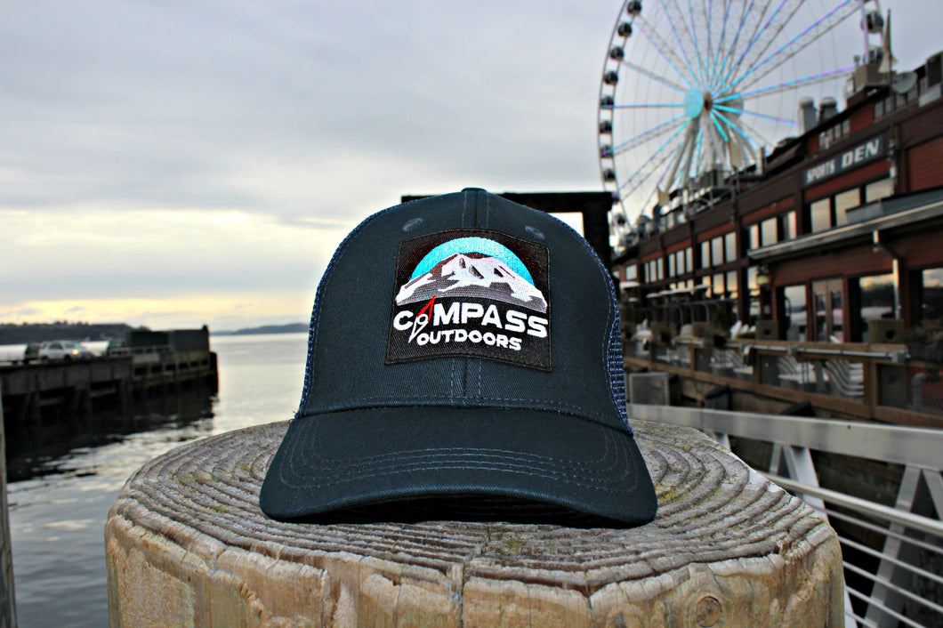 Ocean Depth Navy Trucker Hat