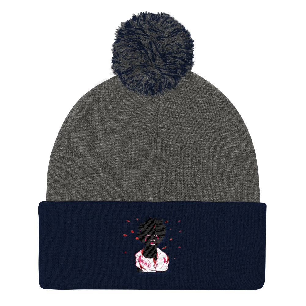 Don't Shoot Pom Pom Knit Cap