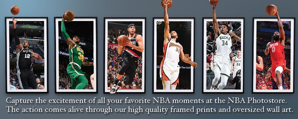 Choose from dozens of framing options, add the perfect images & create your own customized NBA photo gallery.