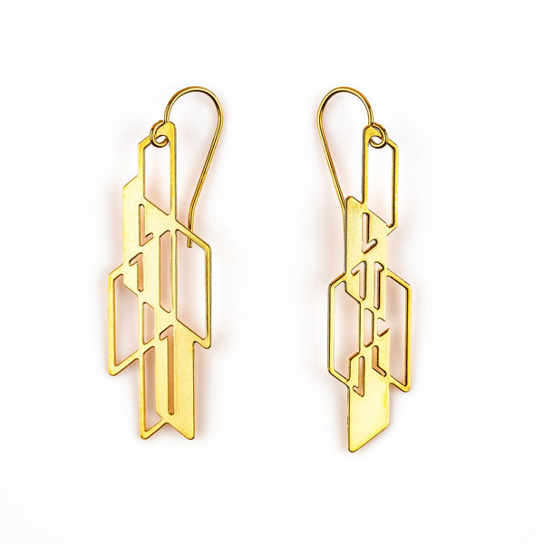 #13 earrings gold