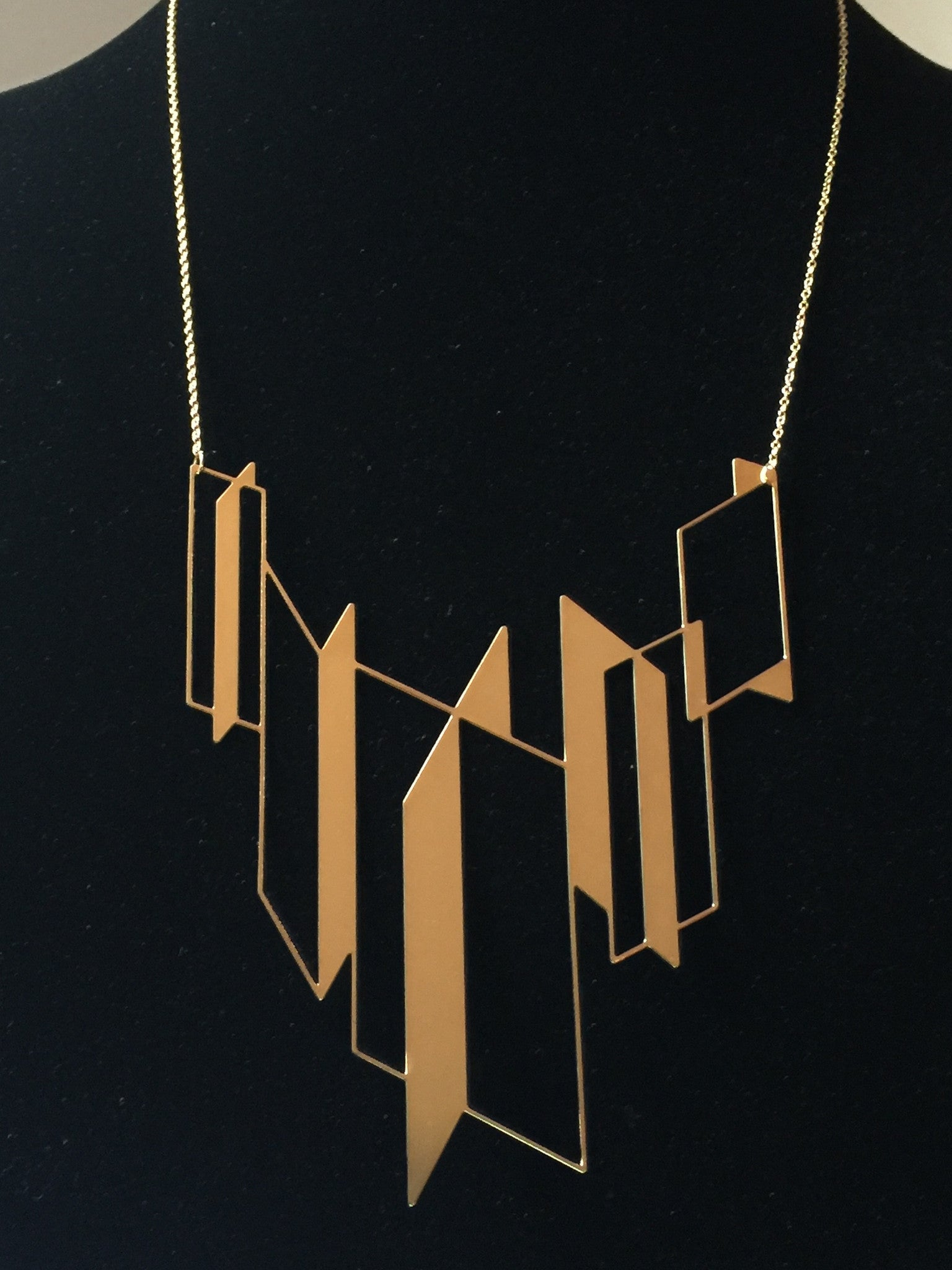 #1 statement necklace gold