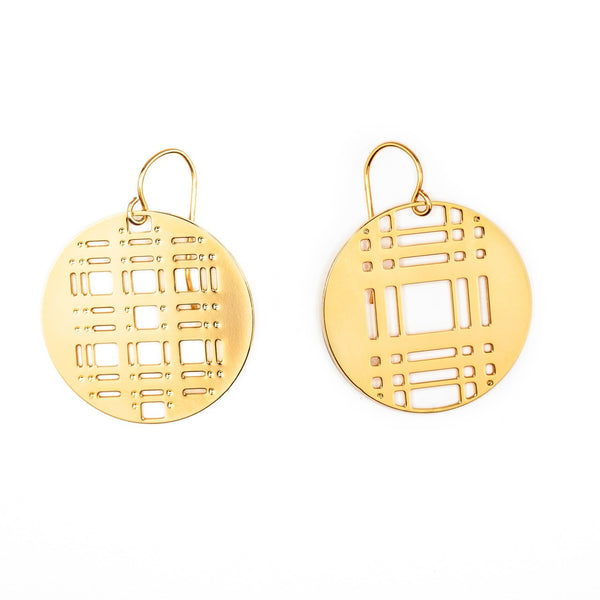 #14 earrings gold