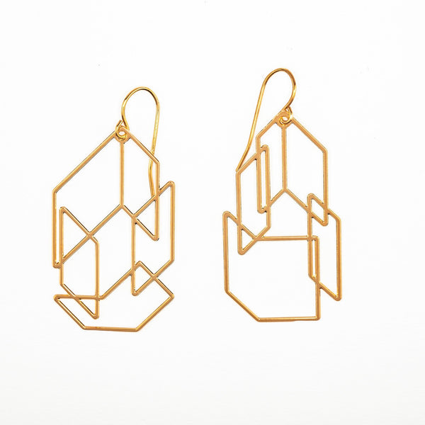 #1 earrings gold