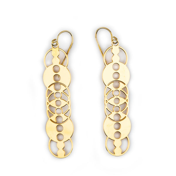 #3 earrings gold