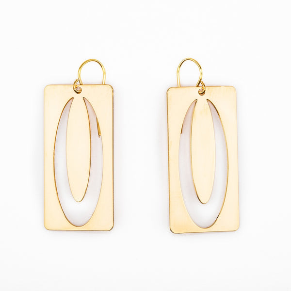 #4 earrings gold