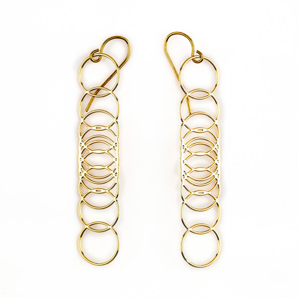 #6 earrings gold