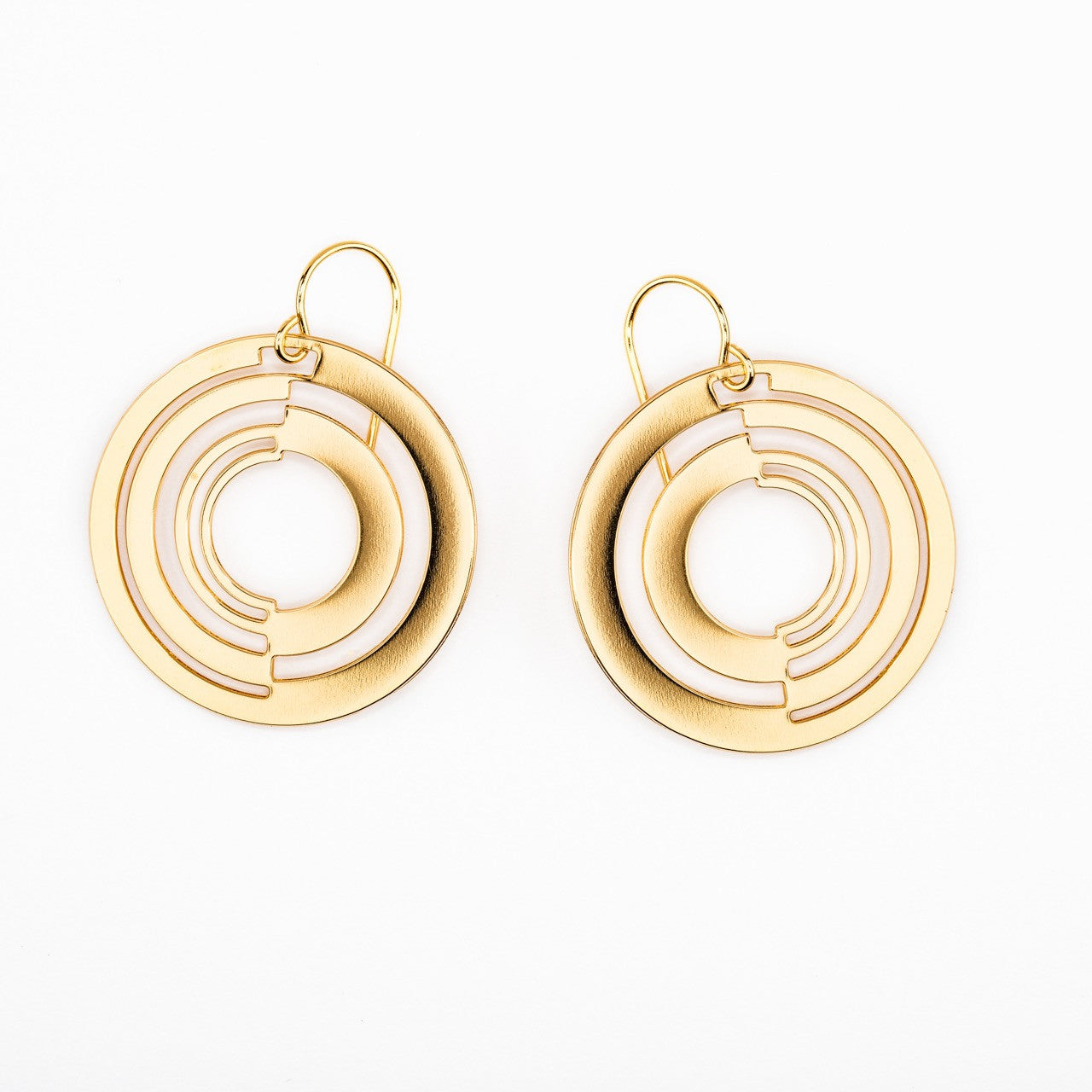 #9 earrings gold