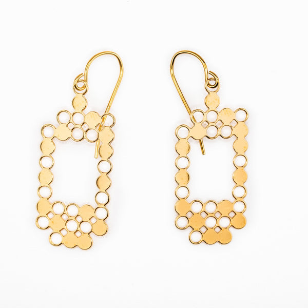 #10 earrings gold