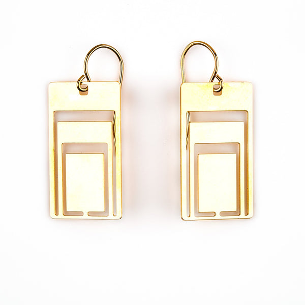 #12 earrings gold