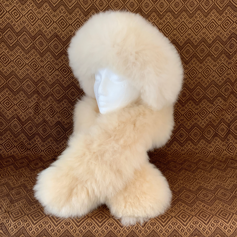 Handmade Alpaca Fur Hats and Scarves.