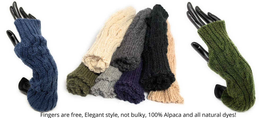 Fingerless texting gloves by Peruvian Accent