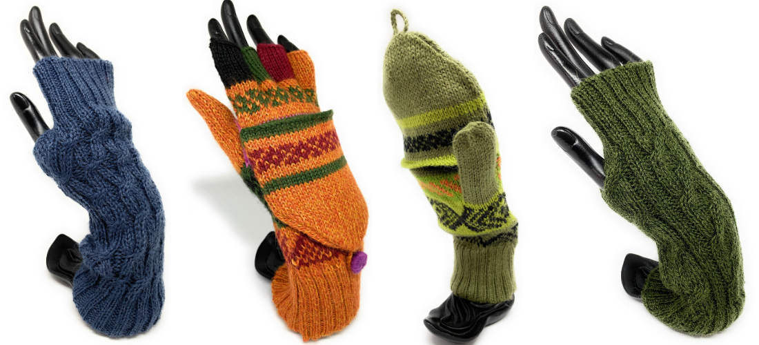 Luxury Alpaca Texting gloves and Mittens by Peruvian Accent