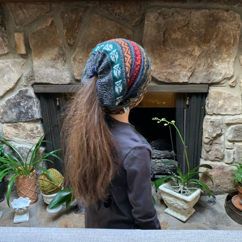 pony tail beanie. Made of the finest Alpaca. by Peruvian Accent